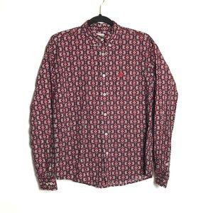 Cinch floral button down shirt